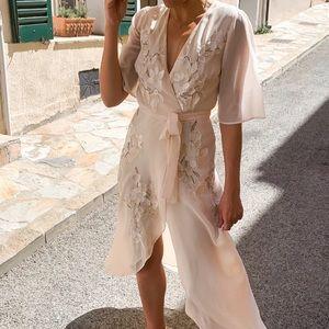 Hope & Ivy - Leila Wrap Embellished Maxi Dress